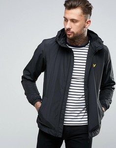 Черная куртка на молнии с капюшоном Lyle & Scott - Черный