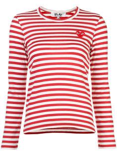 футболка в полоску с нашивкой Comme Des Garçons Play
