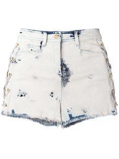 джинсовые шорты с линялым эффектом Balmain