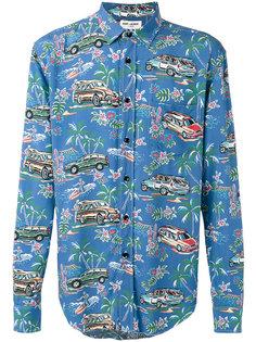 рубашка с фирменным воротником Yves  Saint Laurent