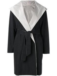 пальто с поясом и капюшоном  Max Mara