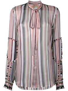 прозрачная блузка в полоску Nº21
