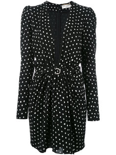 polka dot dress Saint Laurent