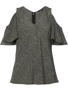 блуза с V-образным вырезом и открытыми плечами Derek Lam