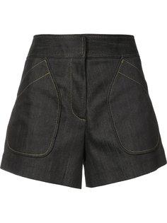 джинсовые шорты с накладными карманами Derek Lam