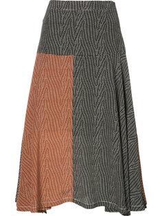 расклешенная юбка-миди Derek Lam