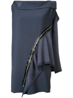 платье с панельным дизайном и декоративной молнией  Issey Miyake