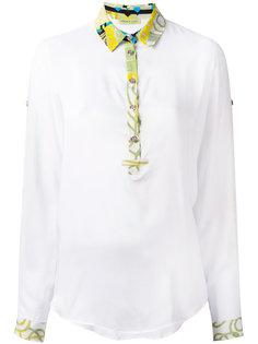 блузка с узорчатой отделкой Versace Jeans