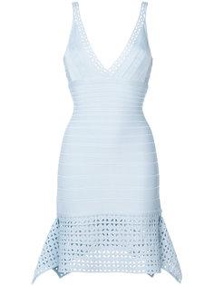 платье с резной отделкой  Hervé Léger