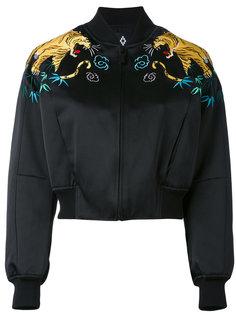 куртка-бомбер  с вышивкой тигров Marcelo Burlon County Of Milan