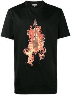 футболка с принтом горящей стрелы Lanvin
