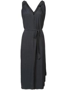 приталенное платье с узлами на плечах Smythe