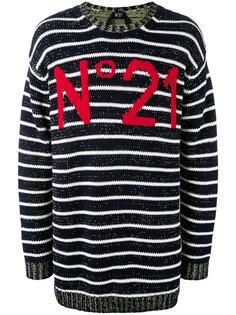 полосатый джемпер с логотипом Nº21