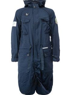 длинное пальто в стиле милитари Undercover