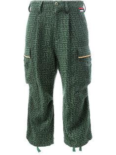 укороченные брюки карго Undercover