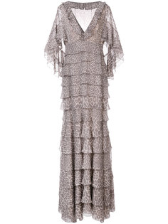 платье-кейп с леопардовым принтом   J. Mendel
