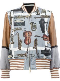 двусторонняя куртка бомбер Undercover