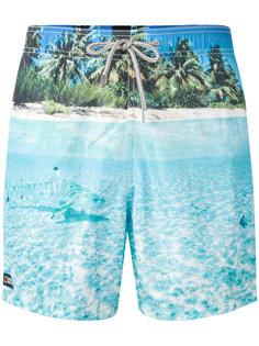 шорты для плавания с изображением пляжа Mc2 Saint Barth