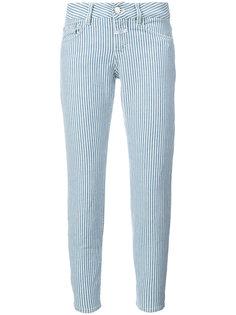 укороченные джинсы в полоску  Closed