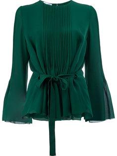 блузка с плиссировками спереди Oscar de la Renta
