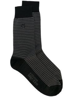 носки с вышивкой Alexander McQueen