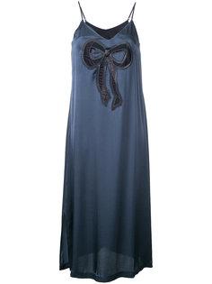 платье с аппликацией банта Muveil