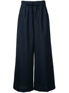 широкие брюки в полоску Muveil