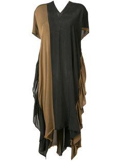 двухцветное платье-кафтан Uma Wang