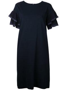 платье-шифт с расклешенными рукавами Muveil