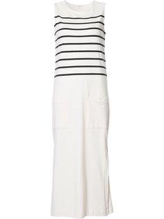 полосатое платье длины миди Osklen