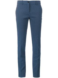 брюки с жаккардовым узором в горох Etro