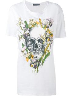футболка свободного кроя с принтом черепа Alexander McQueen