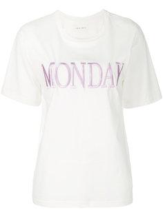 футболка с вышивкой Monday Alberta Ferretti