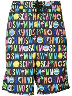 шорты для плавания с принтом логотипа Moschino