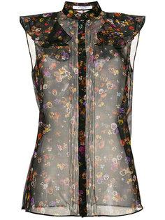 прозрачный топ с цветочным принтом Givenchy