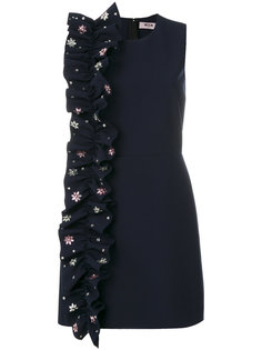 приталенное платье с декорированной оборкой MSGM