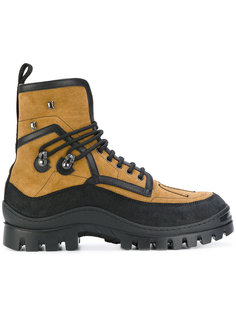 ботинки с оторочкой из овчины Dsquared2