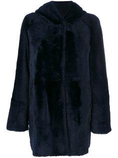 hooded fur coat Drome