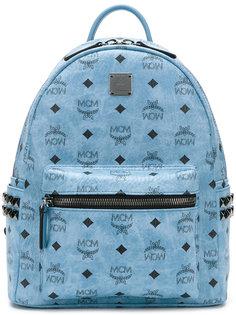 logo print embellished backpack MCM