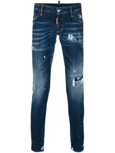 удлиненные джинсы с выцветшим эффектом Clement Dsquared2
