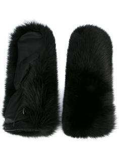 перчатки Ski с лисьим мехом Dsquared2