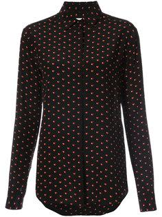 рубашка с принтом в виде сердечек  Saint Laurent