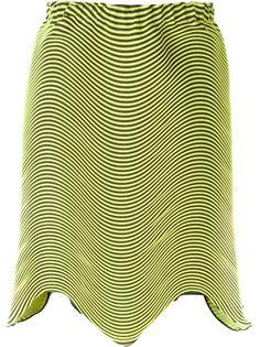 асимметричная плиссированная юбка  Issey Miyake