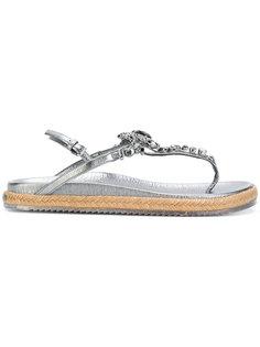 декорирвоанные сандалии Neal Jimmy Choo