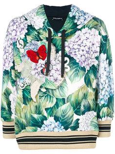 hydrangea printed hoodie Dolce & Gabbana
