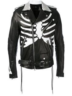 байкерская куртка с принтом скелета Amiri