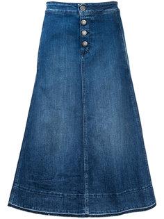 расклешенная джинсовая юбка миди Closed