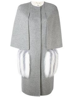 фактурное пальто Fendi