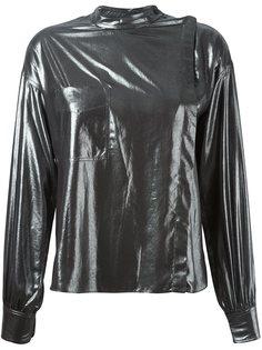 блузка Melva с эффектом металлик Isabel Marant Étoile