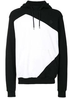 colour block hoodie Versus